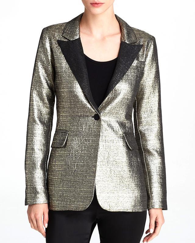 AQUA Brocade Tuxedo Jacket