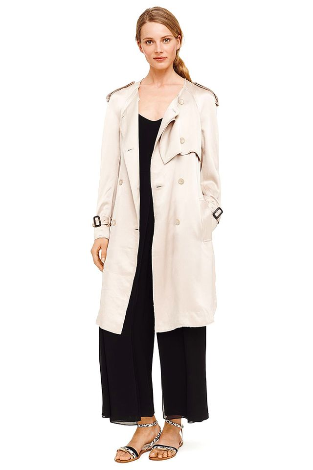 Club Monaco Olyvia Satin Trench