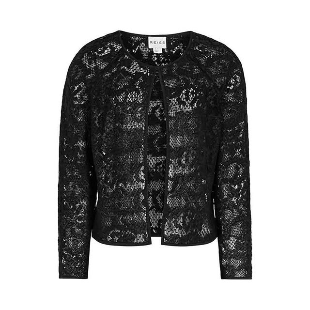 Reiss Charlene Lace Cropped Jacket