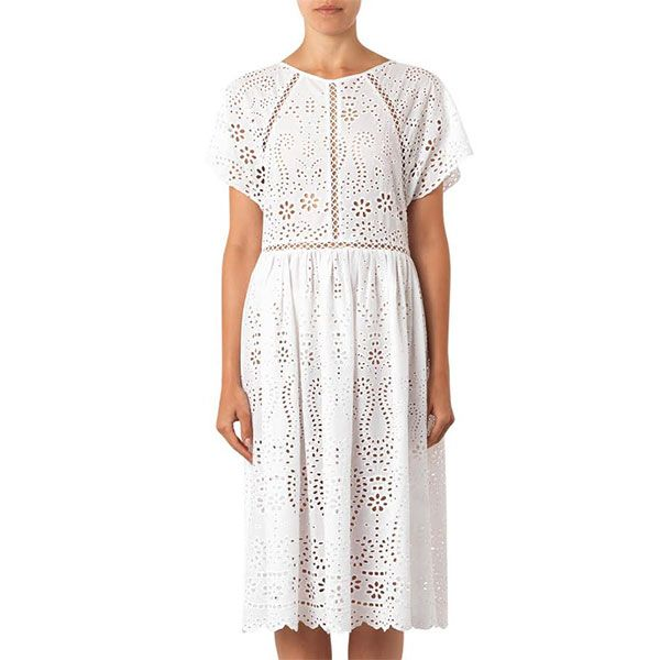 Zimmermann Hydra Broderie-Anglaise Cotton Dress