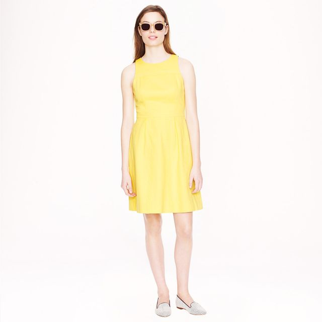 J. Crew Cotton Piqué Lace Dress