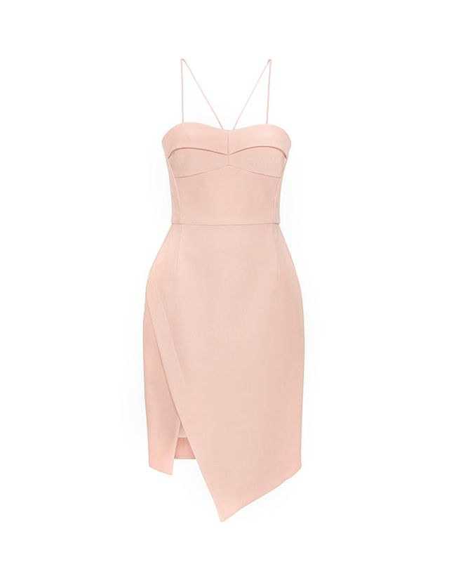 Nicholas Bonded Silk Bustier Dress