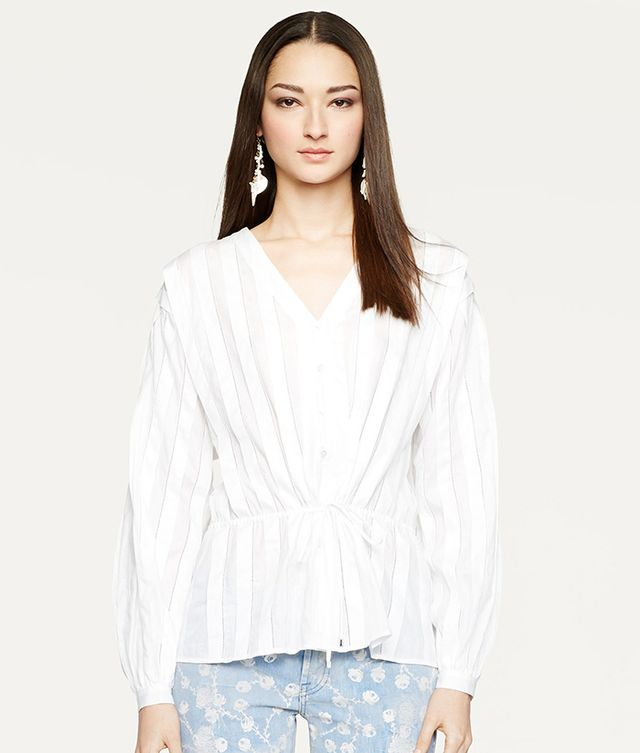 Ralph Lauren Black Label Embroidered Gaelle Blouse