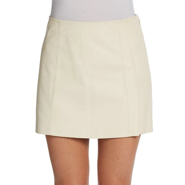 T by Alexander Wang Leather Mini Skirt