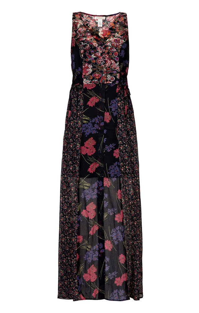 Topshop Mixed Print Maxi Dress By Band Of Gypsies