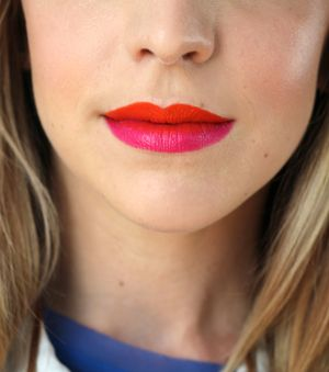 Beauty Inspiration: Two-Tone Lips