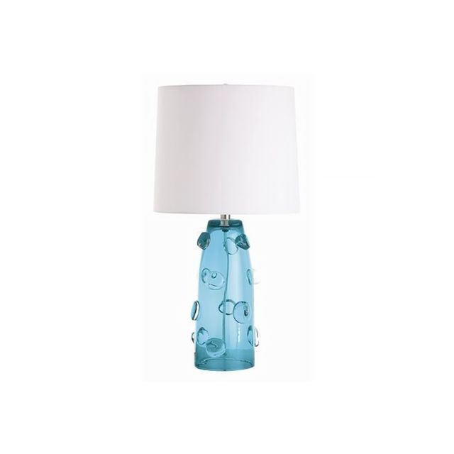 Arteriors Poppy Tall Turquoise Glass Lamp