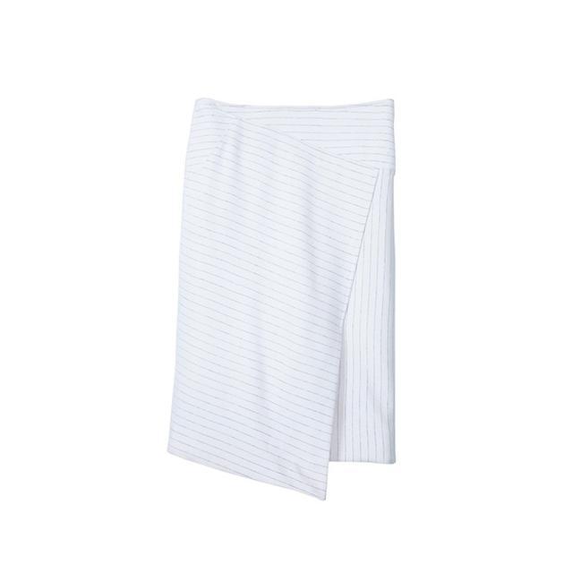 Tibi Pinstripe Asymmetrical Skirt