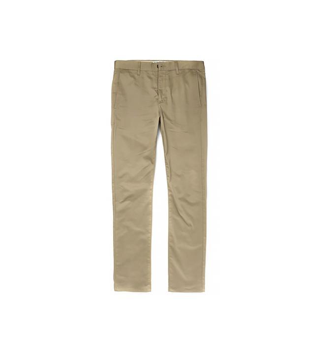 Acne Studios Roc Satin Slim-Fit Cotton-Blend Trousers