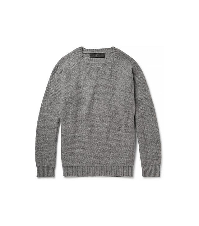 The Elder Statesman Textured-Knit Cashmere Sweater