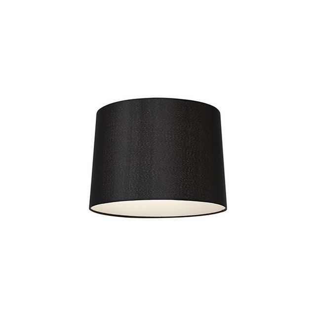 Lamps Plus Black Drum Shade