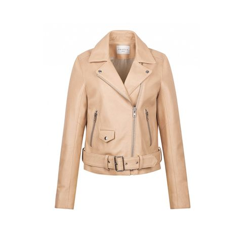 Veine Leather Biker Jacket