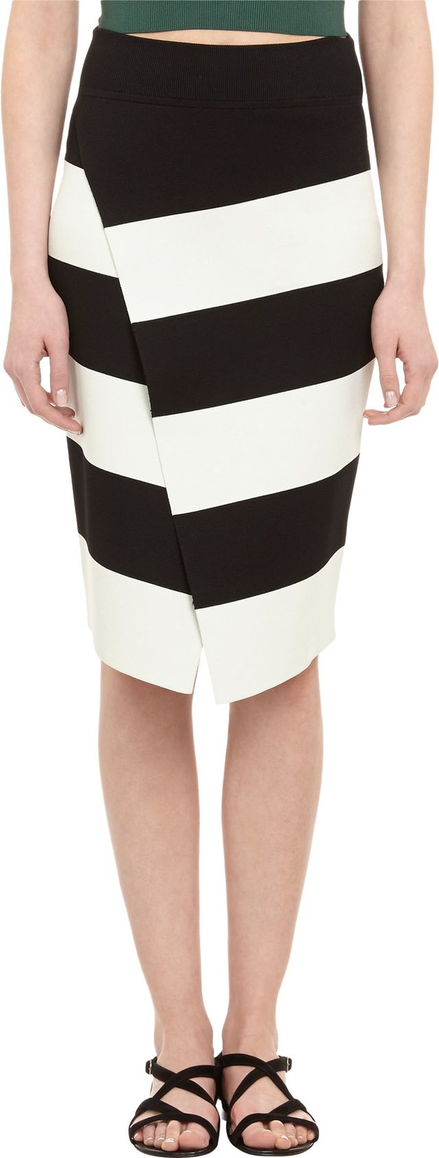 A.L.C. Striped Knit Campbell Skirt