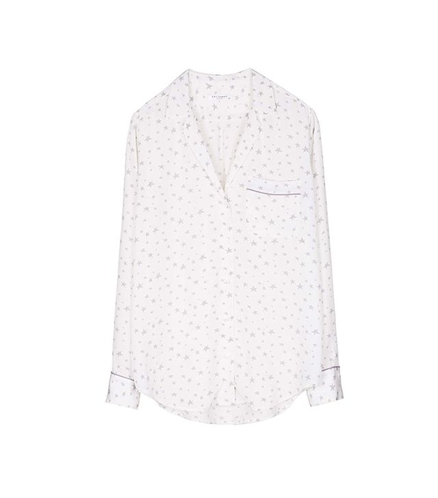 Equipment Keira Star Print Silk Blouse