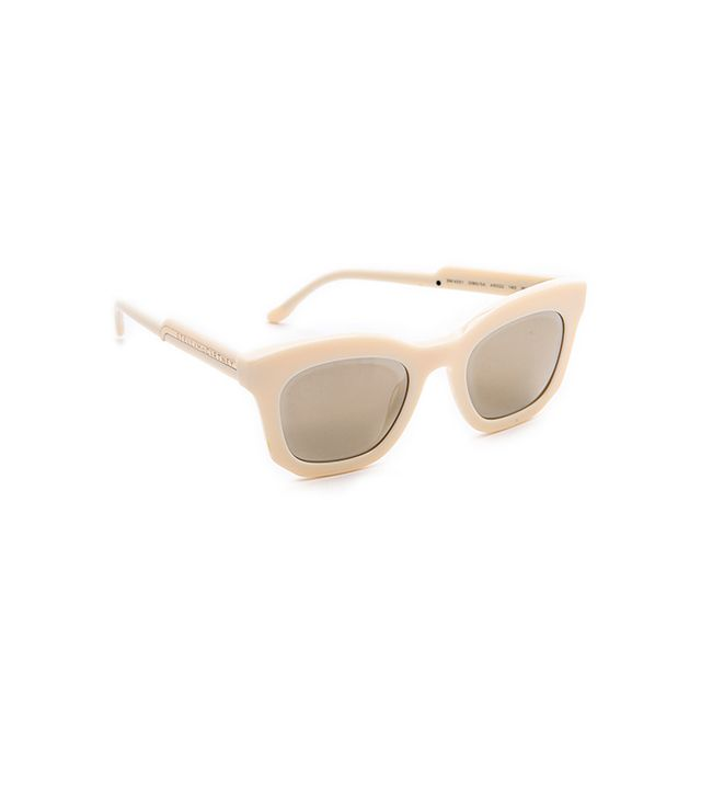 Stella McCartney Mirrored Thick Frame Sunglasses