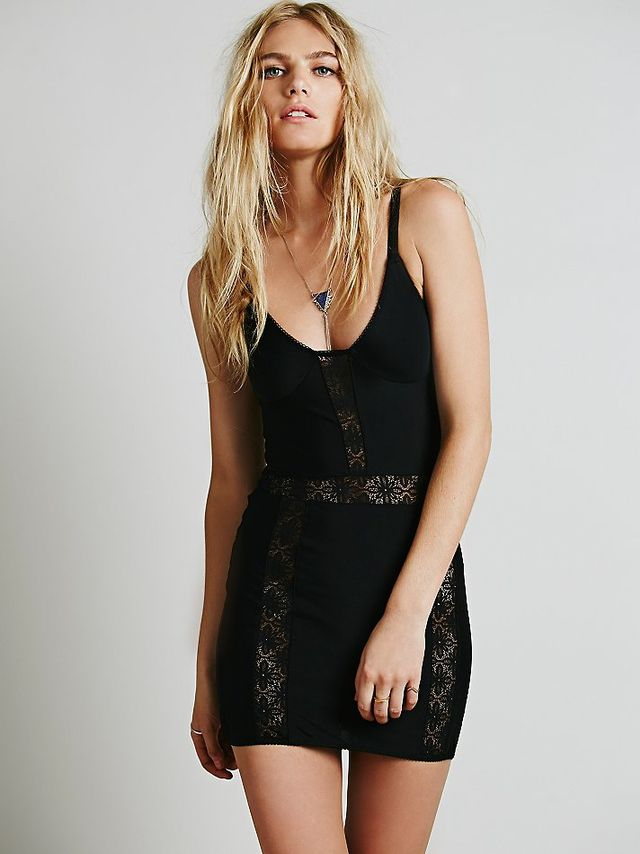 SKIVVIES by For Love & Lemons Lace Insert Bodycon Slip