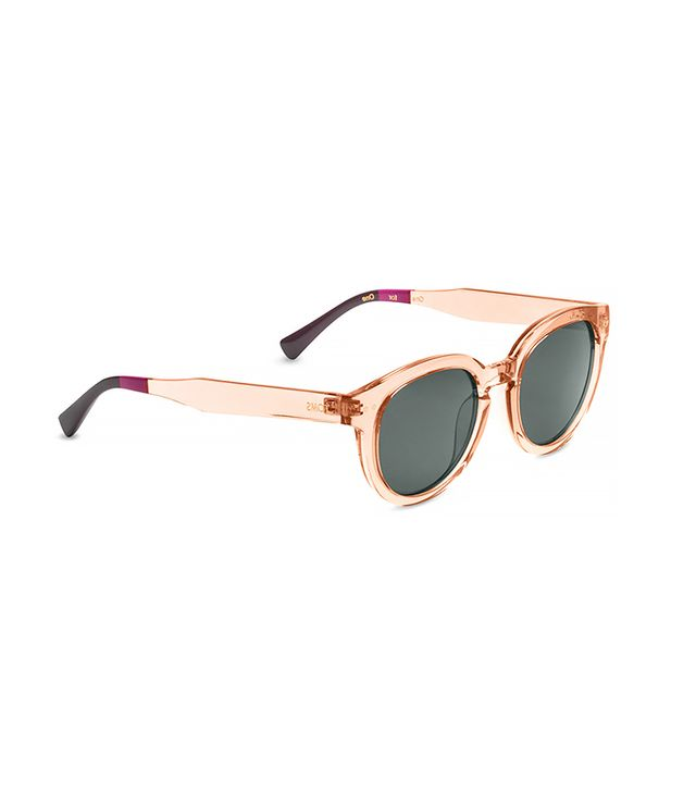 Toms Bellevue Peach Crystal Sunglasses