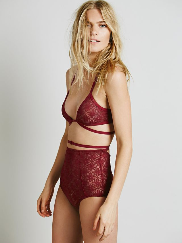 SKIVVIES by For Love & Lemons Bondage Hi Waist Undie