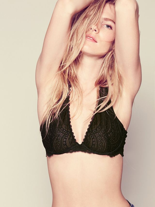 Free People Lace Plunge Underwire