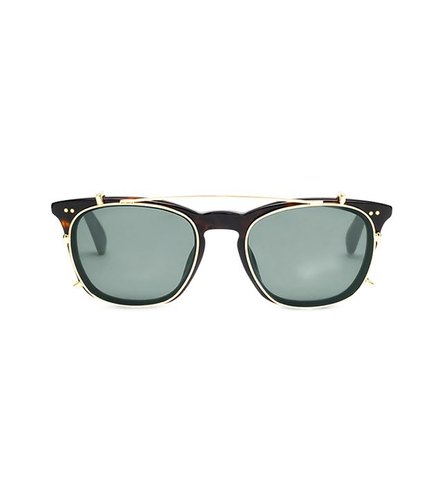 Toms Maxwell Tortoise Shiny Gold Polarized Sunglasses