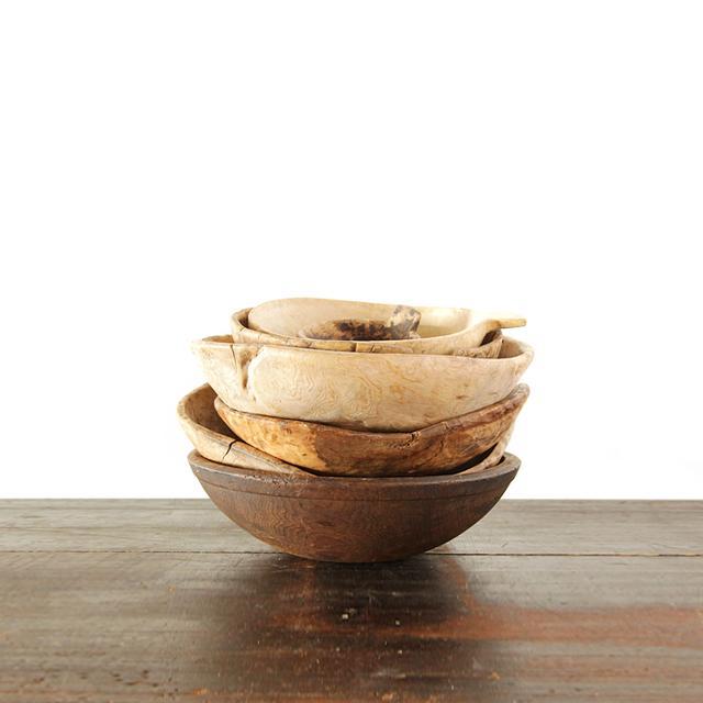 Galerie Half Primitive Wood Bowls