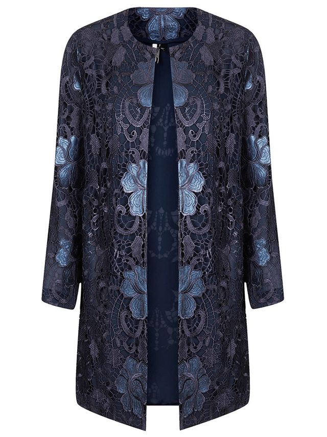 Topshop Lace Overlay Coat