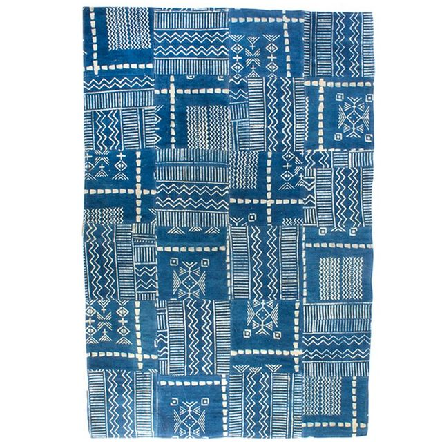Arro Home An Indigo Rug With African Flair