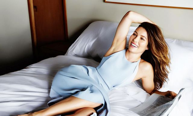 Jessica Biel Poses in Bed for Yahoo! Style