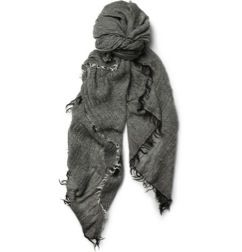 Rick Owens  Fine Woven-Wool and Cashmere-Blend Scarf