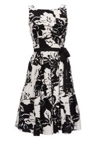 Wallis  Black Floral Print Dress