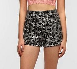 Ecote Ecote Kirsi Jacquard High-Rise Shorts