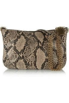 Stella McCartney  Laminated Faux Python Shoulder Bag