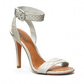 Coach  Leighann Ankle Strap Heels with Buckle
