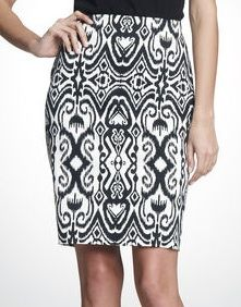 Jones New York  Printed Pencil Skirt