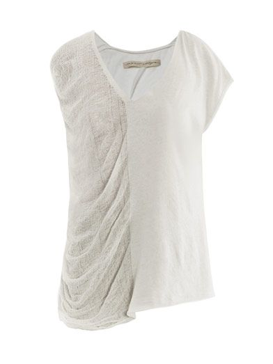 Raquel Allegra  Shredded Short-Sleeve T-Shirt