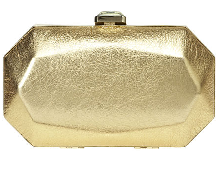 Nine West Le Club Metallic Clutch
