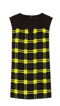 Tibi Tibi Marcel Check Paneled Dress