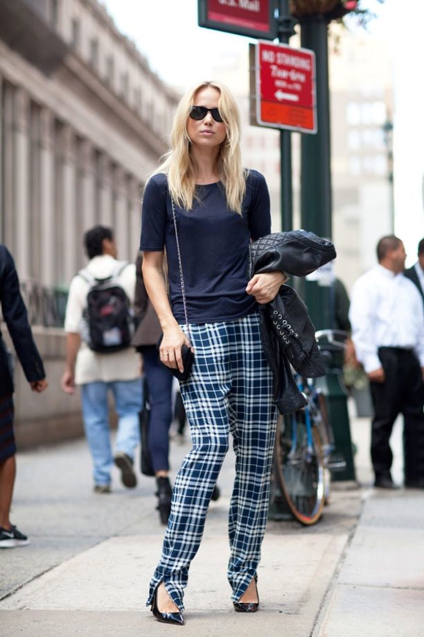 Street Style: Plaid Trousers