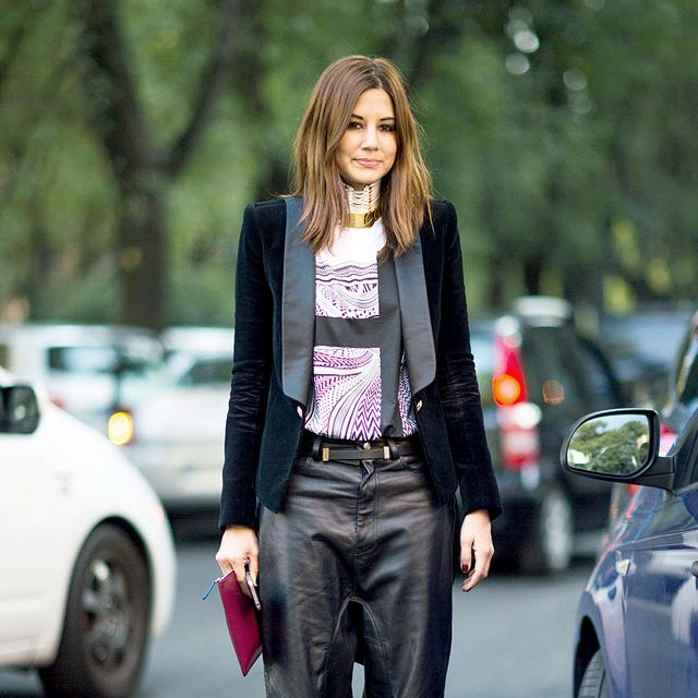 Street Style: Slouchy Leather Pants