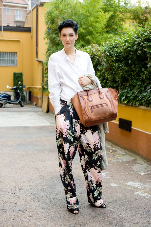 Street Style: Baggy Print Pants