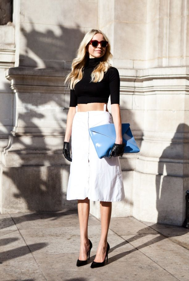 Street Style Bright Blues Whowhatwear Uk