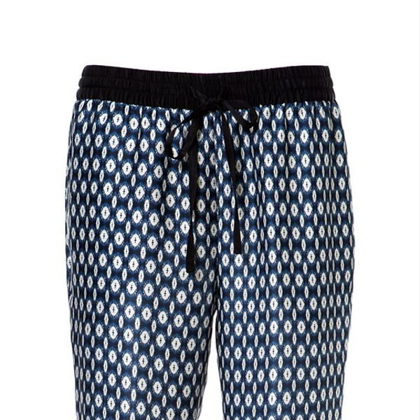 Zara  Contrasting Print Trousers
