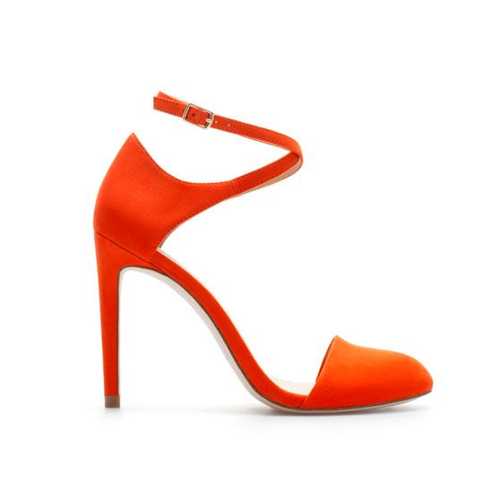 Zara High Heel Vamp Shoe with Ankle Strap