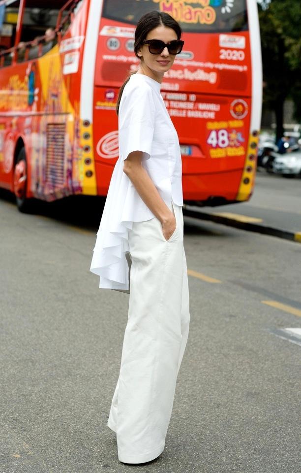 Street Style: White Peplum + Frills