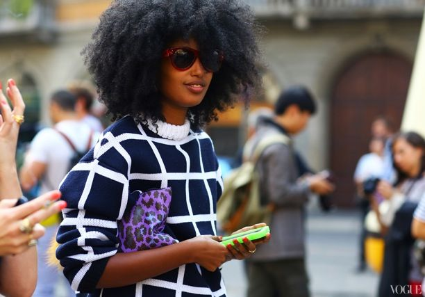 MFW Street Style: Graphic Print Sweaters