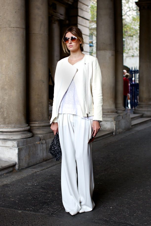 Lfw Street Style Fall Whites Whowhatwear Uk