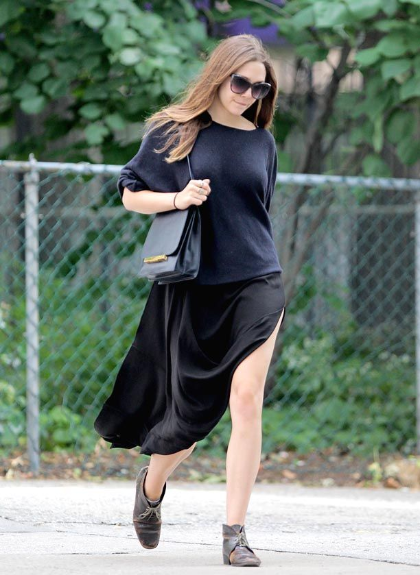 Look of the Day: Slit Skirt