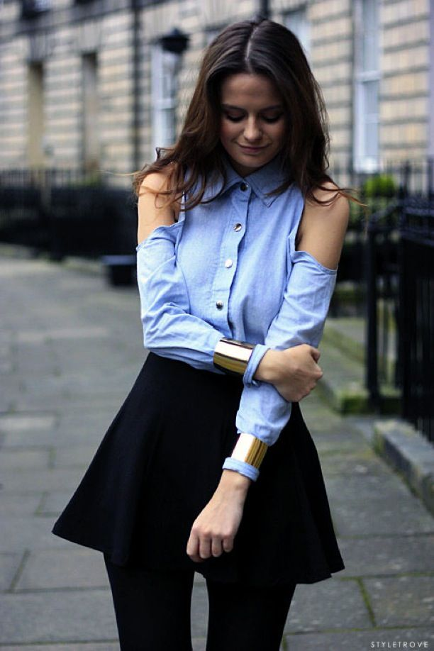 Street Style: Black + Blue