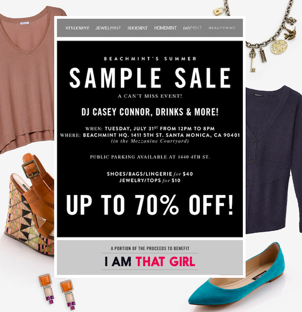 Shopping News: BeachMint Sample Sale