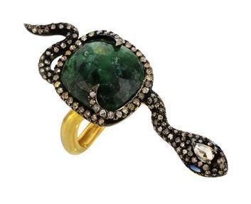 Graziela  Emerald Ssssnake Ring